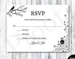 Sample Rsvp Cards Rsvp Card Etsy