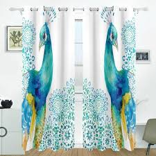 aliexpress com buy peacock feathers flower curtains drapes