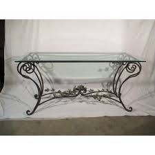 Wrought Iron Sofa Tables by Wrought Iron Beveled Glass Bird Sofa Table Chairish