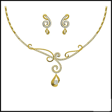 real gold necklace designs images Real diamond gold necklace bluemoon world procon ltd jpg
