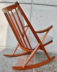 Modern Outdoor Rocking Chairs Danish Modern Teak Rocking Chair By Frank Reenskaug For Bramin At