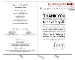 how to print wedding programs you message wedding program fan cool colors