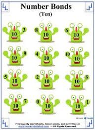 number bonds to 10 worksheet 5 number bonds pinterest number