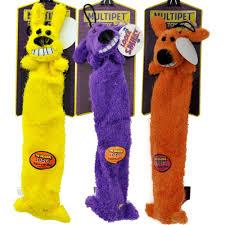 multipet lightweight loofa dog toy 3 pack 12