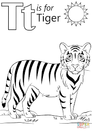 t is for tiger coloring page free printable coloring pages