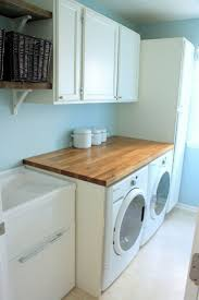 46 best laundry room images on pinterest the laundry laundry use ikea butcher block counter top above w d laundry room butcher block countertops salvaged cabinets in benjamin moore cloud cover open shelves