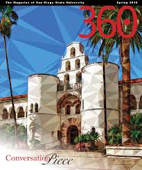 San Diego State University Campus Map by 360 The Magazine Of San Diego State University Spring 2016 By San