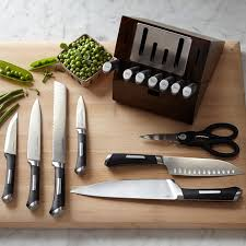 calphalon kitchen knives calphalon precision self sharpening 15 piece cutlery set with