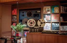 music room vinyl library opens in sou fujimoto designed potato