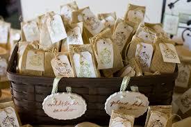 burlap wedding favor bags wildflowers as wedding favors decker rd seeds