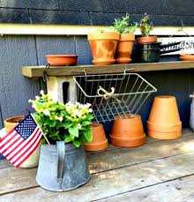 homeroad a repurposed outdoor potting table
