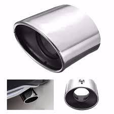 chrome stainless steel exhaust tip tail pipe muffler for honda