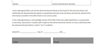 bill of sale template word