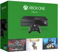 xbox one console with kinect amazon in video games amazon com xbox one 1tb console 3 games holiday bundle gears