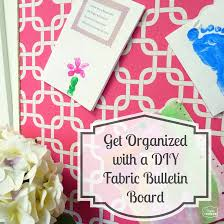 storage and organization archives the happy housie get organized with diy fabric covered bulletin board