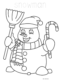 christmas coloring book for kids snowman coloring page