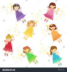 cute fairy fairies cartoon set stock vector 648268927