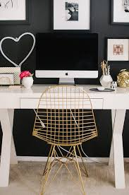 Black Desk And Chair Best 25 Gold Desk Ideas On Pinterest Gold Desk Accessories