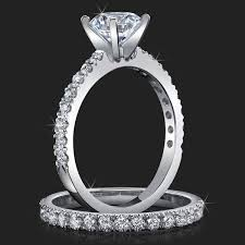 wedding rings pave images Jewelers delicate french cut pave engagement rings with medium jpg