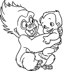 disney baby tarzan coloring pages wecoloringpage pinterest