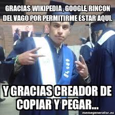 Meme Wikipedia - meme personalizado gracias wikipedia google rincon del vago por