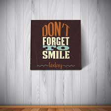 placa decorativa don u0027t forget to smile today pop nerd