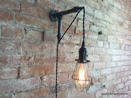 wall mounted pendant light edison sconce industrial furniture bulb cage wall sconce