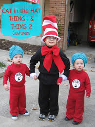 Cat In The Hat Costume Dr Seuss Cat In The Hat And Thing 1 And Thing 2 Costumes