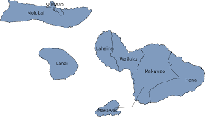 Molokai Map File Modern Districts Of Maui County Map Svg Wikimedia Commons