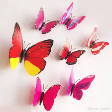 fashion diy wall stickers 3d butterfly sticker cinderella
