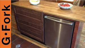 Ikea Kitchen Island Table by Diy Ikea Kitchen Island Gardenfork Youtube
