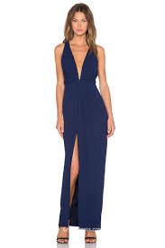 v plunge neckline sleeveless navy long chiffon evening dress