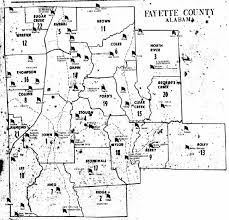 fayette county maps fayette co al voting districts