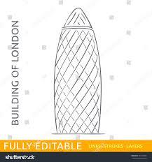 commercial skyscraper st mary axe sketch stock vector 343732064