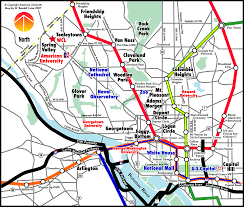 Dc Metro Area Map by Washington Dc Universities Map Maps Of Usa