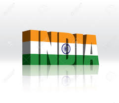 The Flag Of India 3d India Word Text Flag Royalty Free Cliparts Vectors And Stock