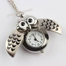 necklace watch vintage images Cute night owl vintage pocket watch pendant long necklace save jpg