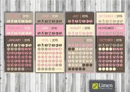design wall calendar 2015 printable circle wall calendar 2015 pink yellow earth tones