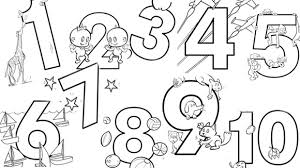 coloring page 1 10 coloring pages wonderful numbers colouring