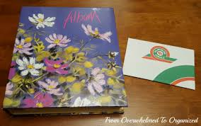 Photo Albums With Sticky Pages Day 16 31 Day Photo Decluttering Challenge From Overwhelmed To