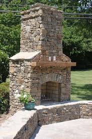 simple natural stone outdoor fireplace beautiful home design