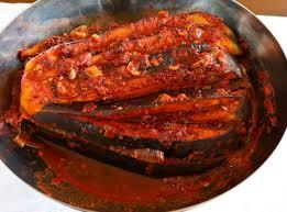 north korean style spicy stuffed steamed eggplant gochujang gaji