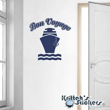 bon voyage cruise ship vinyl wall decal quote l138 zoom