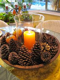 14 diy ideas for candle holder 13 fall centerpiece with pine