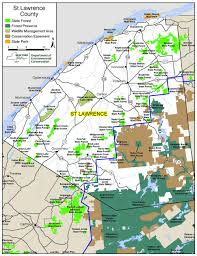 Map Of New York State Counties by St Lawrence County Map Nys Dept Of Environmental Conservation