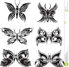 symmetric butterfly tattoos stock vector illustration of white