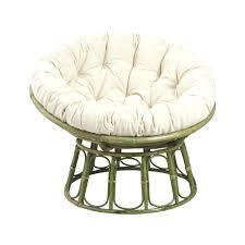 coussin de chaise rond coussin pour fauteuil rotin en vert coussin pour chaise ronde en