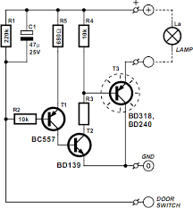 vehicle interior lighting with switch off delay circuit diagram