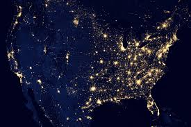 Show Map Of The United States by City Lights Of The United States 2012 Image Of The Day