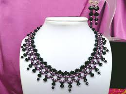 beautiful beads necklace images Free pattern for beautiful beaded necklace milady beads magic jpg